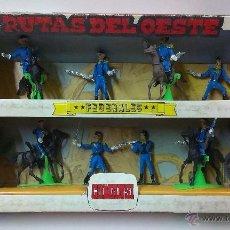 Figuras de Goma y PVC: RUTAS DE OESTE . FEDERALES . COMANSI REF 29 . CAJA ORIGINAL. Lote 52779853
