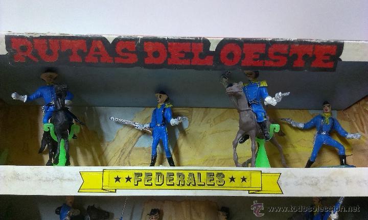 Figuras de Goma y PVC: RUTAS DE OESTE . FEDERALES . COMANSI REF 29 . CAJA ORIGINAL - Foto 2 - 52779853