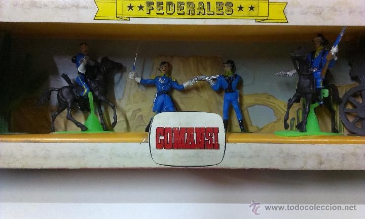 Figuras de Goma y PVC: RUTAS DE OESTE . FEDERALES . COMANSI REF 29 . CAJA ORIGINAL - Foto 3 - 52779853