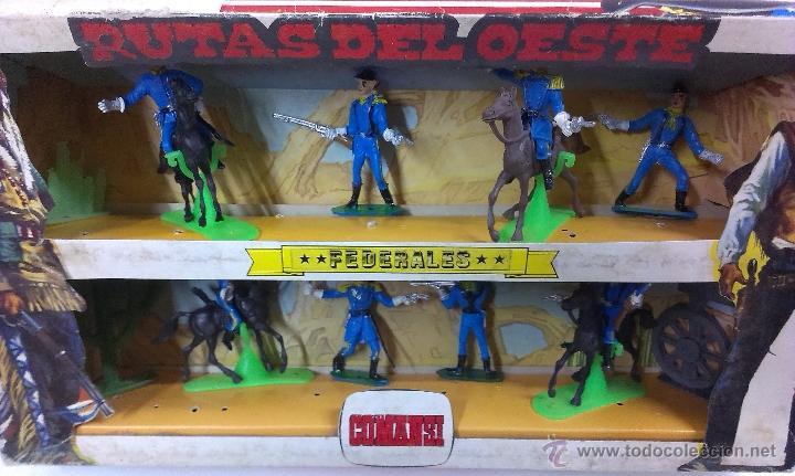 Figuras de Goma y PVC: RUTAS DE OESTE . FEDERALES . COMANSI REF 29 . CAJA ORIGINAL - Foto 6 - 52779853