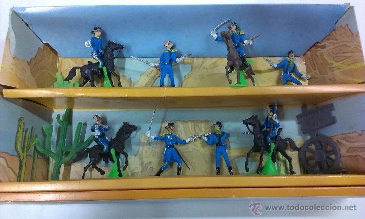 Figuras de Goma y PVC: RUTAS DE OESTE . FEDERALES . COMANSI REF 29 . CAJA ORIGINAL - Foto 12 - 52779853