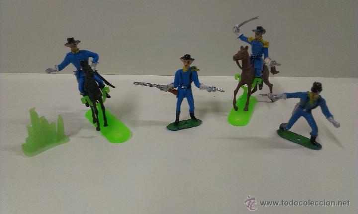 Figuras de Goma y PVC: RUTAS DE OESTE . FEDERALES . COMANSI REF 29 . CAJA ORIGINAL - Foto 13 - 52779853