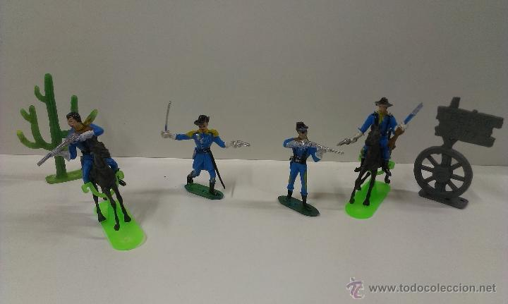 Figuras de Goma y PVC: RUTAS DE OESTE . FEDERALES . COMANSI REF 29 . CAJA ORIGINAL - Foto 14 - 52779853