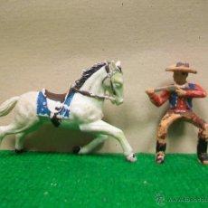 Figuras de Goma y PVC: FIGURA VAQUERO REAMSA CON CABALLO DE REAMSA - FIGURA PLASTICO REAMSA. Lote 52828846