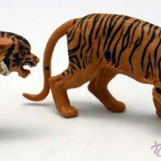 Figuras de Borracha e PVC: PAREJA TIGRES TIGRE BRITAINS ENGLAND GOMA 1972 . Lote 52883608