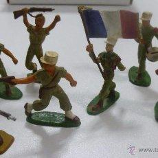 Figuras de Goma y PVC: LOTE DE 7 FIGURAS MUÑECOS DE GOMA DE SOLDADOS DE LA LEGIÓN FRANCESA MARCA STARLUX AÑOS 60. Lote 52934369