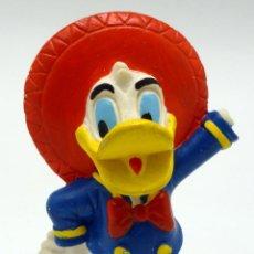 Figuras de Goma y PVC: PATO DONALD MEXICANO WALT DISNEY COMICS SPAIN PVC LOS TRES CABALLEROS AÑOS 80. Lote 109271583