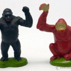 Figuras de Goma y PVC: GORILA Y ORANGUTÁN GOMA BRITAINS ENGLAND 1978 . Lote 52959492