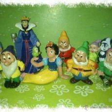 Figuras de Goma y PVC: LOTE DE 9 PVC DE BLANCANIEVES Y LOS SIETE ENANITOS DE DISNEY - COMICS SPAIN Y BULLYLAND, AÑOS 80S. Lote 53093212