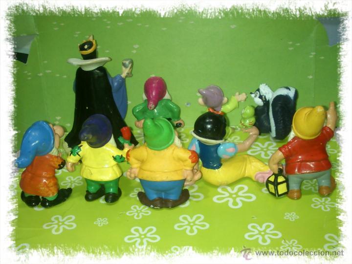 Figuras de Goma y PVC: LOTE DE 9 PVC DE BLANCANIEVES Y LOS SIETE ENANITOS DE DISNEY - COMICS SPAIN Y BULLYLAND, AÑOS 80s - Foto 2 - 53093212