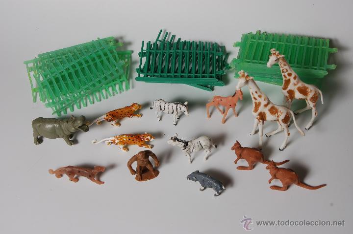 ZOO COMANSI, FIGURAS DE ANIMALES Y JAULAS (19 TRAMOS) (Juguetes - Figuras de Goma y Pvc - Comansi y Novolinea)