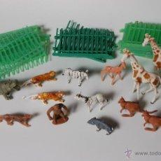 Figuras de Goma y PVC: ZOO COMANSI, FIGURAS DE ANIMALES Y JAULAS (19 TRAMOS). Lote 53098985