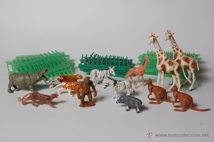 Figuras de Goma y PVC: ZOO COMANSI, FIGURAS DE ANIMALES Y JAULAS (19 TRAMOS) - Foto 2 - 53098985