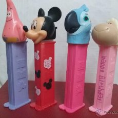 Dispensador Pez: LOTE DE 4 DISPENSADOR PEZ - MICKEY, PATRICIO, OVEJA (HAPPY BIRTHDAY), PERLA (PELICULA RIO). USADOS. Lote 53164654