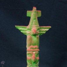 Figuras de Goma y PVC: COMANSI TOTEM VERDE ROSA PINTADO REF346. Lote 53194529