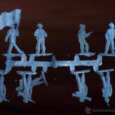 Figuras de Goma y PVC: COLADA SOLDADOS AZULES - DE UNOS 5 CM ALTURA ------------------(REF M1 E1DETRAS). Lote 53205819