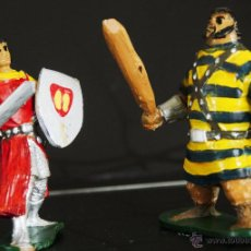 Figuras de Goma y PVC: EL CAPITAN TRUENO Y GOLIAT DE JIN. Lote 53255510