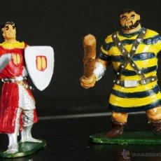 Figuras de Goma y PVC: EL CAPITAN TRUENO Y GOLIAT DE JIN. Lote 53255556