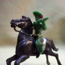 Figuras de Goma y PVC: FIGURA DE PLASTICO, VAQUERO, COW BOY A CABALLO, FABRICADO POR LAFREDO - EMIROBER, 1970S. Lote 53264701