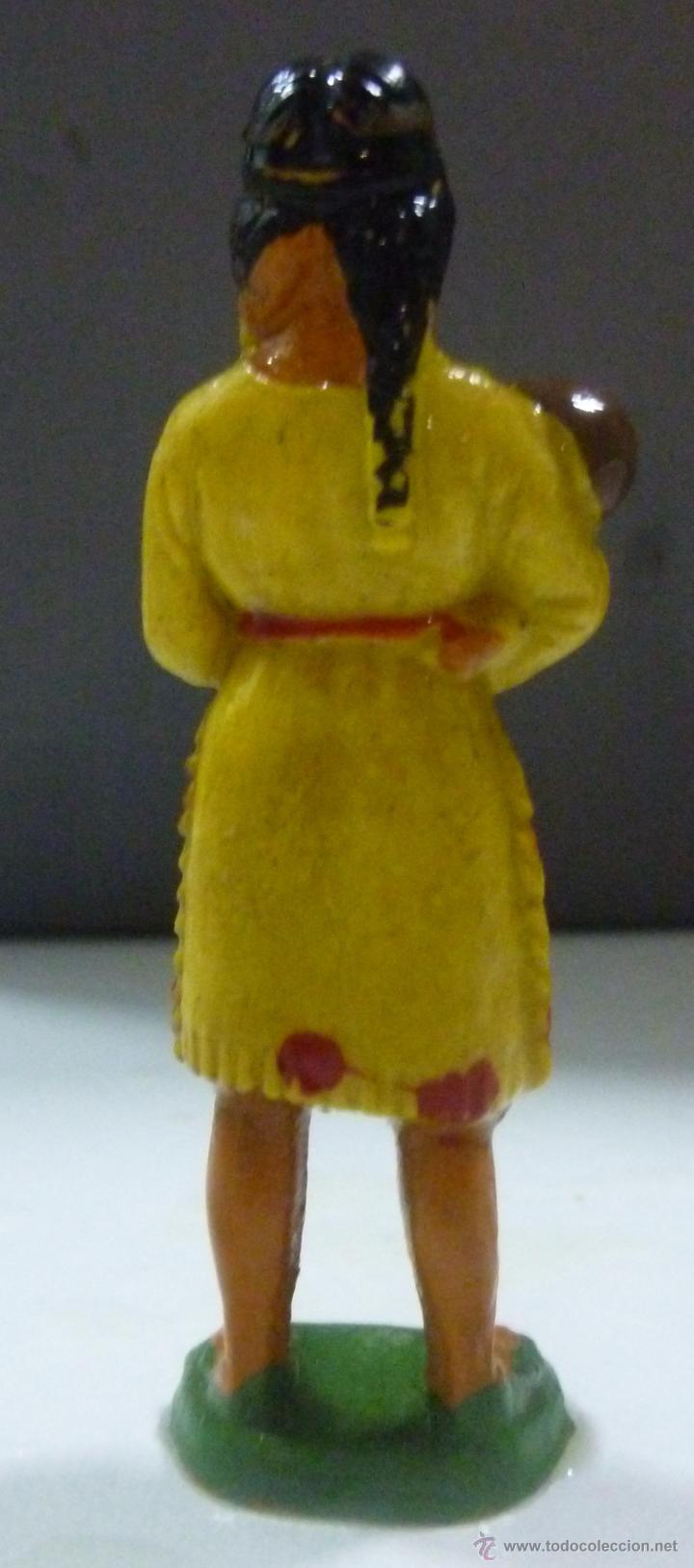 Figuras de Goma y PVC: Muñeco de Goma, Mujer india con bebé Marca Starlux - Foto 2 - 53288766
