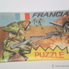 Figuras de Goma y PVC: SOBRE DE PAPEL MONTAPLEX DE LA SERIE PUZZLES , COMANDOS FRANCIA . VER DESCRIPCION. Lote 53306719