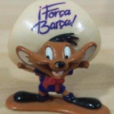 Figuras de Goma y PVC: FIGURA DE PVC , STAR TOYS , FC BARCELONA , WARNER BROS , 1996 , LOONEY TUNES ,SPEEDY GONZALEZ 4.5 CM. Lote 53325929