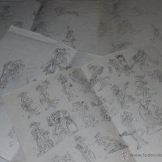 Figuras de Goma y PVC: (M) DUNKIN PANTERA ROSA - LOTE DE 4 CARTILINAS CON LOS DISEÑOS ORIGINALES DE LAS FIGURAS DE DUNKIN. Lote 53372922