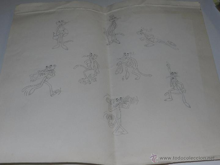 Figuras de Goma y PVC: (M) DUNKIN PANTERA ROSA - LOTE DE 4 CARTILINAS CON LOS DISEÑOS ORIGINALES DE LAS FIGURAS DE DUNKIN - Foto 5 - 53372922