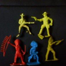 Figuras de Goma y PVC: LOTE DE VAQUEROS E INDIOS ---- (REF M2ARRBOCAR). Lote 53396266