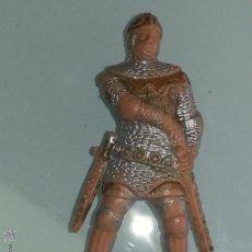 Figuras de Goma y PVC: REAMSA : GUERRERO MEDIEVAL SERIE RICARDO CORAZON DE LEON REF. 186 DEL CATALOGO AÑOS 60 PLASTICO. Lote 53409337