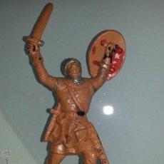 Figuras de Goma y PVC: REAMSA : GUERRERO MEDIEVAL SERIE RICARDO CORAZON DE LEON REF. 192 DEL CATALOGO AÑOS 60 PLASTICO. Lote 53409534