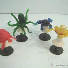 Figure di Gomma e PVC: 4 X JUGUETE SALTARIN VENTOSA - ANIMALES GOMA - KIOSKO AÑOS 80 - CHUPONA - MUELLE. Lote 53411162