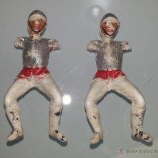 Figuras de Borracha e PVC: TEIXIDO : LOTE DE 2 SOLDADOS CORACEROS DESFILE MILITAR AÑOS 60 PLASTICO. Lote 53421391