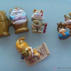 Figuras Kinder: LOTE DE 3 FIGURAS DE KINDER : GATOS DEL ANTIGUO EGIPTO , SARCOFAGO Y MOMIA. Lote 53437704
