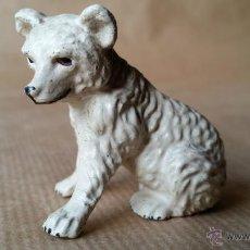 Figuras de Goma y PVC: CACHORRO OSO POLAR SENTADO LINEOL 1930 ZOO ANIMALES SALVAJES. Lote 53443449