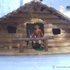 Figuras de Goma y PVC: CABAÑA DE TRAMPERO UNICA EN TODOCOLECCION. Lote 53472944