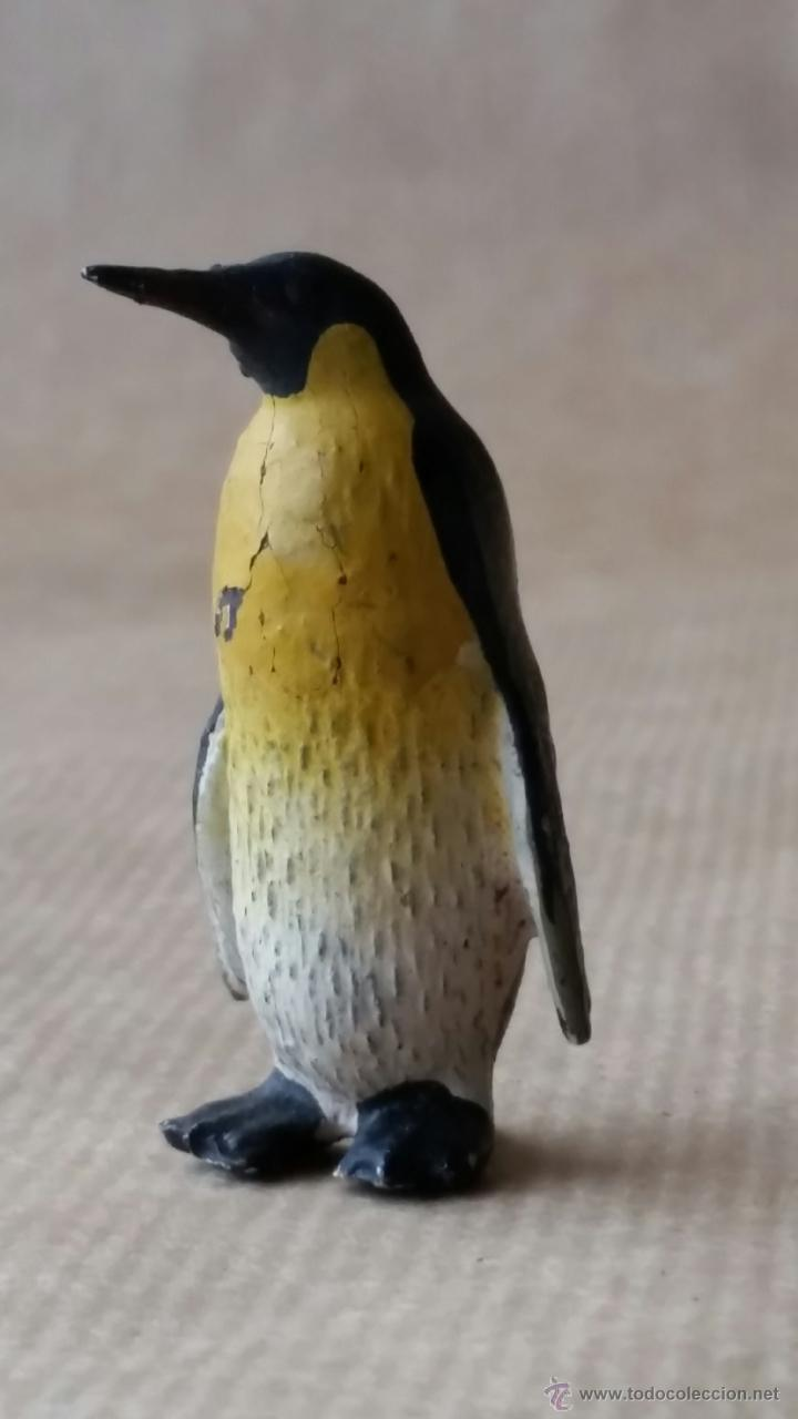 Figuras de Goma y PVC: PINGÜINO EMPERADOR LINEOL 1950 ZOO ANIMALES DE COMPOSICION - Foto 2 - 53477841