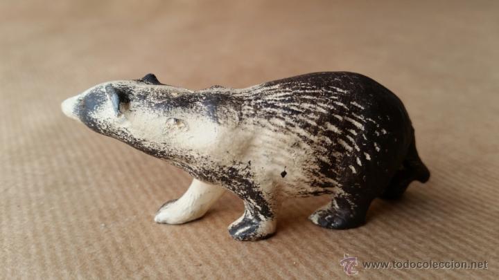Figuras de Goma y PVC: TEJON LINEOL 1950 ZOO ANIMALES DEL BOSQUE - Foto 2 - 113283848