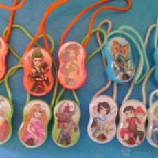 Figuras Kinder: LOTE 11 FIGURITAS HUEVOS KINDER SORPRESA COLGANTES DEL ZODÍACO. Lote 53715145
