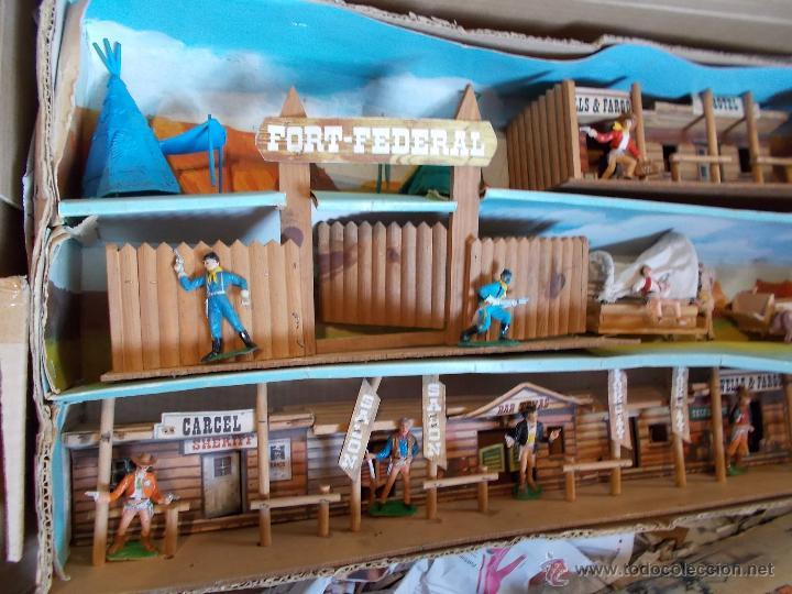 Figuras de Goma y PVC: COMANSI: TODO EL OESTE AMERICANO. REF. 222 CAJA GRANDE TODO MADERA AÑOS 60 FUERTE FORT FEDERAL. PTOY - Foto 13 - 46162854