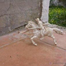 Figuras de Goma y PVC: FIGURA CABALLERO BLANCO DE AJAX. Lote 53721386