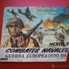 Figuras de Goma y PVC: MONTAPLEX BATALLA DE SALERNO Nº 120 SOBRE VACIO AÑOS 70 COMBATES NAVALES 100% ORIGINAL. Lote 53746513
