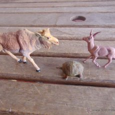 Figuras de Goma y PVC: FIGURAS EN PLASTICO TORTUGA CORZO Y GACELA DE PECH O SIMILAR. Lote 53758205