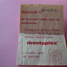 Figuras de Goma y PVC: MONTAPLEX FOLLETO PUBLICITARIO VENÍA DENTRO DEL SOBRE LETRA T COMPLETA Y CONSIGUE REGALO.. Lote 53767376