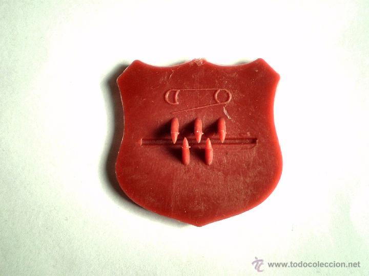 Figuras de Goma y PVC: MONTAPLEX - CHAPA PLACA INSIGNIA DEL AGENTE ESPECIAL- ESPECIAL AGENT - COLOR ROJO - Foto 2 - 53904631