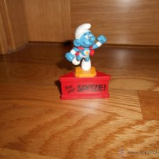 Figuras de Goma y PVC: PITUFO SMURF SUPERMAN DAS WAR SPITZE SCHLEICH 1980 MUY RARO. Lote 53945172