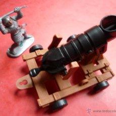 Figuras de Goma y PVC: FIGURAS ARTILLERIA SERIE MEDIEVAL PLASTICO 54MM. Lote 54055833