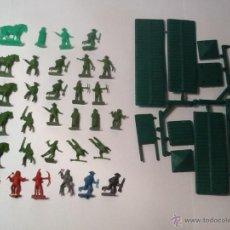 Figuras de Goma y PVC: MONTAPLEX INDIOS, VAQUEROS Y FUERTE DEL OESTE. Lote 54151877