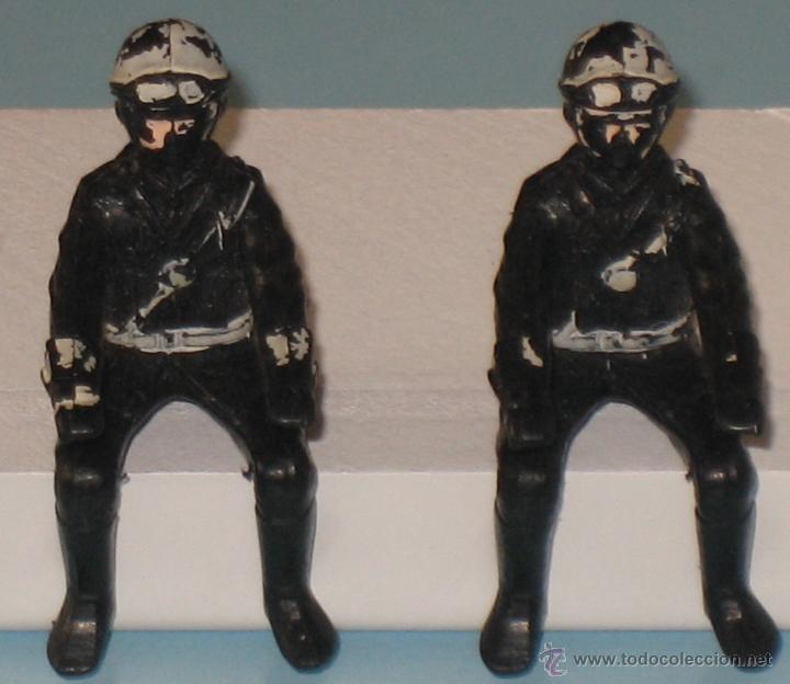 Figuras de Goma y PVC: DOS FIGURAS DE PLÁSTICO MOTORISTAS - Foto 2 - 54186521