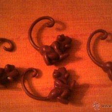 Figuras de Goma y PVC: 4 MINI FIGURITAS DE MONOS - PLASTICO O PVC. Lote 54276489